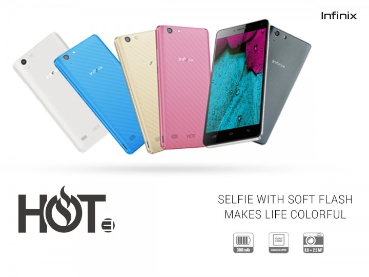 Infinix Hot 3 Colours