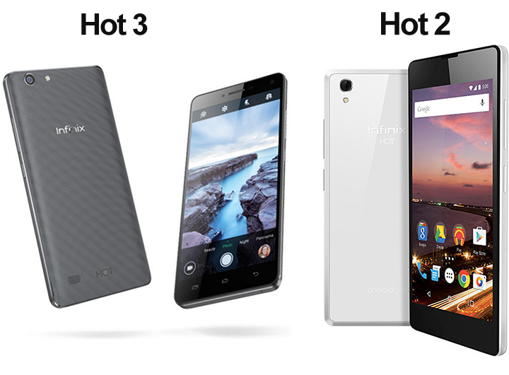 Infinix Hot 2 vs Infinix Hot 3